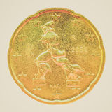 Retro moneta di sguardo Immagini Stock Libere da Diritti