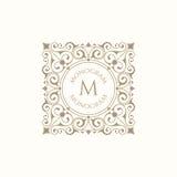 Retro monogram Royaltyfri Bild