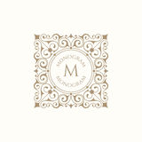 Retro monogram. Royalty Free Stock Image