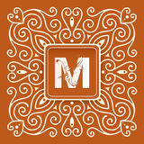 Retro monogram Royalty Free Stock Photography