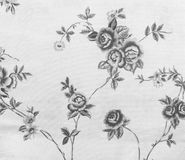 Retro Monotone Zwart-witte de Stoffenachtergrond van het Kant Bloemen Naadloze Patroon Royalty-vrije Stock Foto's
