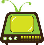 Retro monster antenna TV. Illustration clip-art vector Stock Photo