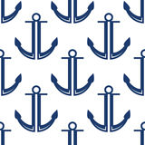 Retro morski błękit zakotwicza bezszwowego wzór Zdjęcie Royalty Free