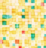 Retro mosaic abstract background. Beautiful colors squares with nice vintage texture royalty free illustration