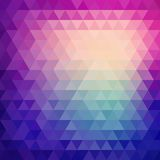 Retro mosaic pattern of geometric triangle shapes Stock Images