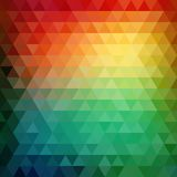 Retro mosaic pattern of geometric triangle shapes Stock Photo