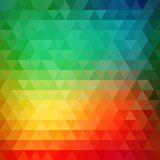 Retro mosaic pattern of geometric triangle shapes Royalty Free Stock Photography