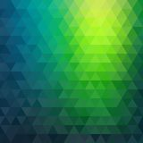 Retro mosaic pattern of geometric triangle shapes Stock Photography