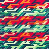 Retro mosaic seamless pattern Royalty Free Stock Photography