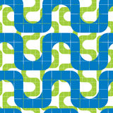Retro mosaic seamless pattern, vector background. Stock Photos