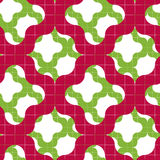 Retro mosaic seamless pattern, vector background. Royalty Free Stock Image