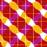 Retro mosaic seamless pattern, vector background Royalty Free Stock Photography
