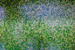 Retro mosaic wall Royalty Free Stock Image