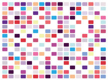 Retro mosaic on white background Royalty Free Stock Photos