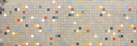 Retro- Mosaik-Wand Lizenzfreies Stockbild