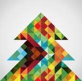 Retro- Mosaik Weihnachtsbaum Stockfotografie