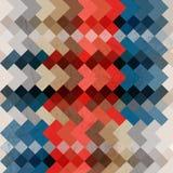 Retro mosaikbakgrund för vektor Arkivbild