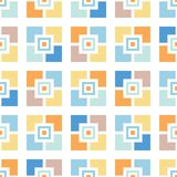 Retro mosaiker belägger med tegel den sömlösa modellen för vektorn Nyckfull sommarpöl Geo Abstrakt Mitt--århundrade bakgrund stock illustrationer