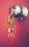 Retro Motel Key Royalty Free Stock Photography