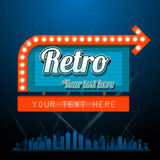 Retro motel sign with copyspace royalty free illustration