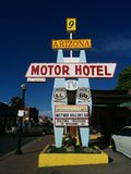 Retro motel sign on Route 66 royalty free stock images