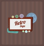 Retro motel sign. Vector. Retro motel sign. This is file of EPS10 format Stock Photography