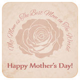 Retro Mother's day postcard Stock Photo