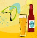 Retro Motief van het Bier (Vector) Stock Afbeeldingen