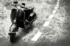 Retro motobike on the road Stock Images