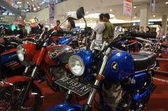 Retro motocicletta Immagini Stock Libere da Diritti