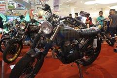 Retro motocicletta Immagine Stock