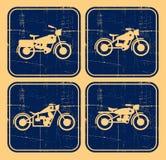 Retro motocicletta vecchia Immagini Stock Libere da Diritti