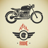 Retro motociclo royalty illustrazione gratis