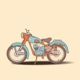 Retro motociclo Immagini Stock