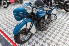 Retro motociclo dell'indiano quattro Fotografia Stock Libera da Diritti