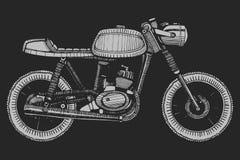 Retro motociclo dipinto a mano Immagine Stock Libera da Diritti