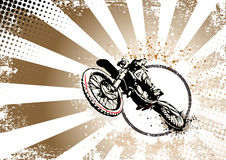 Retro- Motocrossplakathintergrund Stockfotos