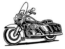 Retro motocyklu wektoru rysunek Obrazy Royalty Free