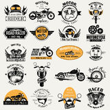 Retro Motor Bike Racer label tag sticker for Advertisement. Vector illustration of Retro Motor Bike Racer label tag sticker for Advertisement Stock Photos