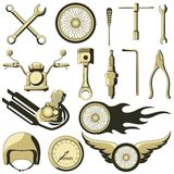 Retro Motor Parts Stock Photo