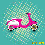 Retro motor scooter Royalty Free Stock Photography
