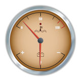 Retro motor temperature and voltage gauge icon Royalty Free Stock Photography