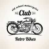 Retro motorbike emblems and labels template Stock Image