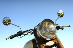 Retro motorbike handlebar Royalty Free Stock Images