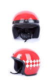 Retro motorbike helmets Royalty Free Stock Photo