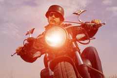 Retro Motorbiker Royalty Free Stock Images