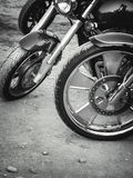 Retro motorbikes Royalty Free Stock Image