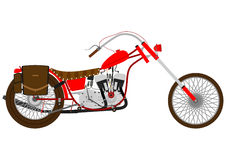 Retro motorcycle Stock Photography