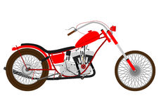 Retro motorcycle Stock Image
