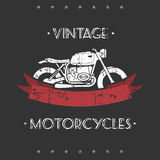 Retro motorcycle Royalty Free Stock Photography